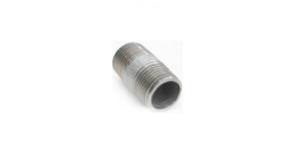 "Stainless Steel Nipple, 1/2 NPT - 1.5"" long"