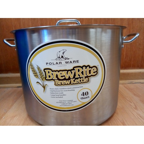 40 Quart - 10 Gallon Brew Rite Brew Kettle
