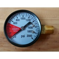 0 - 2000 PSI High Pressure Gauge LH