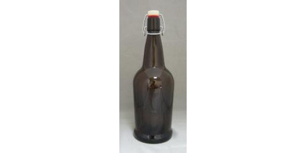 1L BROWN Flip Top Bottle     12/cs