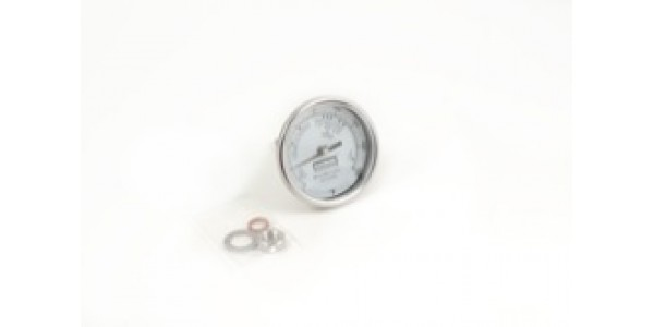 3 Inch Dial Thermometer, Weldless Fixed -  UNF