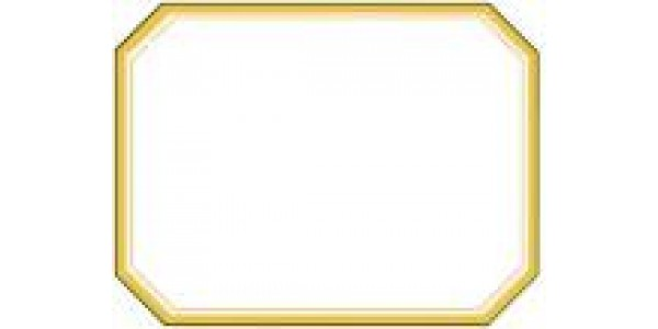 Bottle Label - Large Gold Bevel B24512