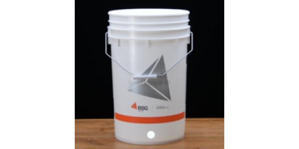 6.5 gallon bucket drilled for a spigot