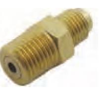 Flare Adapater, 1/4 MFL x ¼ MPT (RHT) brass