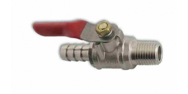 Gas ShutOff with check valve 3/8 inch