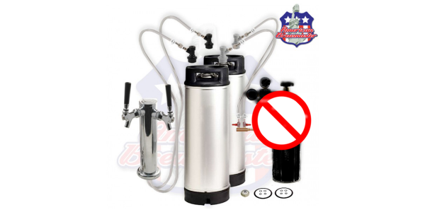 Homebrew Kegging Kit With Double Tap Tower No CO2 TANK or Regulator