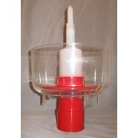 Bottle Rinser Sanitizer  red plastic