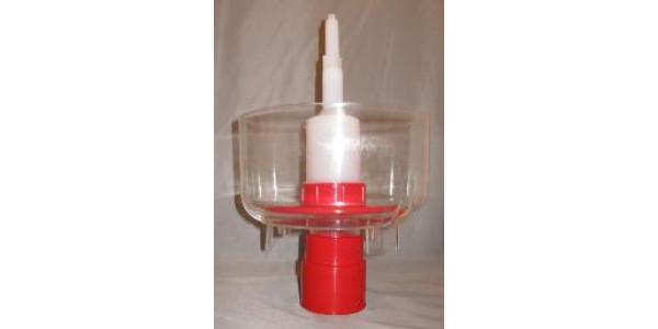 Bottle Rinser Sanitizer  red plastic