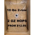 10 LBS 2-ROW + 2 OZ HOPS - YOU CHOOSE BELOW!