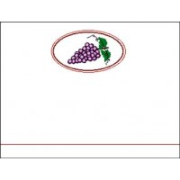 Wine Bottle Label - Red Grapes A14001 - 32 labels