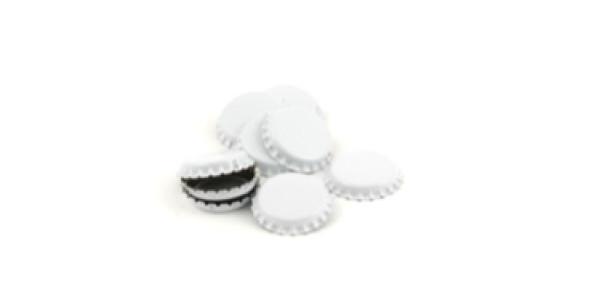 Bottle caps Plain White 144/bag