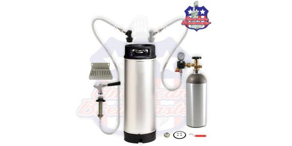 Refrigerator Conversion Kit For Home Brew w/ 5 gallon keg- Ships