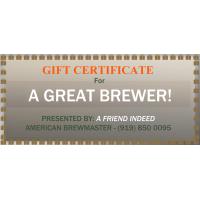 Online Gift Certificate - To Redeem Online