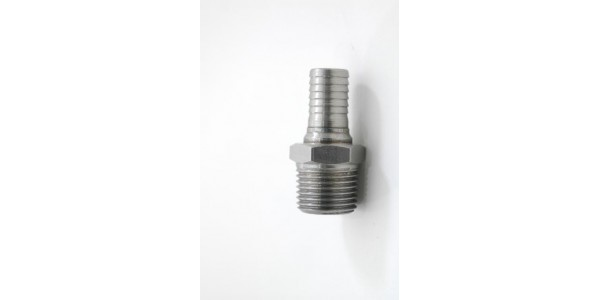 Stainless Steel 1/2 inch hose barb x 1/2 inch pipe thread