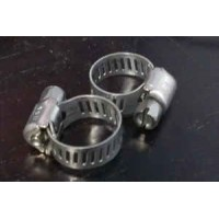 Stainless Steel Hose Clamps 1/2 inch  2 per package