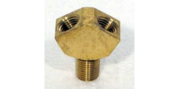 1/4 inch Brass WYE Connector