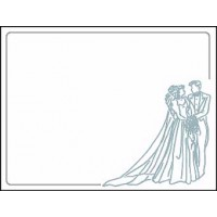 Bride and Groom, Silver - 32 labels