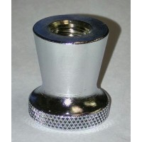 Faucet Collar, chrome (threaded top for beer faucet)