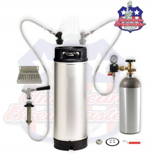 Refrigerator Conversion Kit For Home Brew w/ 5 gallon keg- Ships