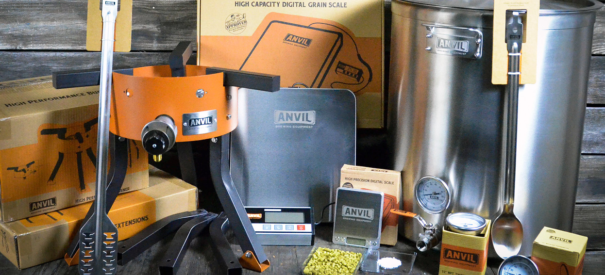 FORGE YOUR NEXT BREW WITH ANVIL - NOW AVAILABLE TO ORDER At Anvil Brewing Equipment, we've forged a suite of durable, reliable, and high quality products specifically for homebrewing. The entire suite of products works in unison to provide a perfect brewing experience from day one.