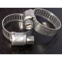 Stainless Steel Hose Clamps -5/8         2/pkg